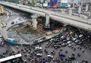 Tin trong nước - Hà Nội: Đường Nguyễn Trãi ùn tắc vì nhà thầu rào đường không hợp lý?