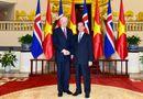 Tin trong nước - Thủ tướng Nguyễn Tấn Dũng hội kiến Tổng thống Cộng hòa Iceland