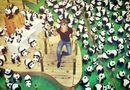 """Tin tức giải trí - Nathan Lee chụp hình cùng một """"binh đoàn"""" gấu trúc"""