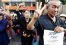 Quân đội Thái Lan đau đầu trước biểu tình giơ 3 ngón tay