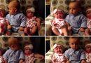 Gia đình - Tình yêu - Clip: Hài hước cậu bé 2 tuổi nghệt mặt nhìn hai em gái sinh đôi