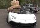 Video-Hot - Lamborghini Aventador chở gấu khổng lồ trên phố
