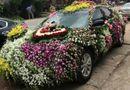 Cộng đồng mạng - Độc đáo xe rước dâu được trang trí bằng hàng trăm loài hoa ở xứ Nghệ