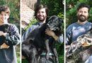 Gia đình - Tình yêu - Cảm động chùm ảnh những chú chó và chủ cùng nhau lớn lên