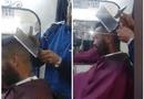 Cộng đồng mạng - Rùng mình xem anh thợ dùng búa và dao băm thịt cắt tóc cho khách