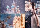 Mê mẩn cảnh tuyết rơi trắng xóa ở Nga