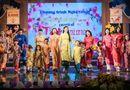 Tin tức giải trí - Hoa hậu Bản sắc Việt toàn cầu Thu Ngân trình diễn áo dài của Ngọc Hân