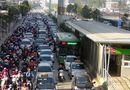 """Tin trong nước - Xe buýt nhanh BRT """"gặp khó"""" trong ngày thử nghiệm đón trả khách miễn phí"""
