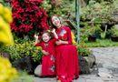 Tin tức giải trí - Elly Trần cùng con gái Cadie Mộc Trà diện áo dài đôi du Xuân