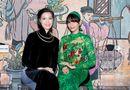 Tin tức giải trí - Trương Thị May lần đầu diện áo dài xuyên thấu đọ dáng bên dàn sao Việt