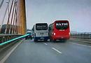 """Tin trong nước - Xử phạt 2 tài xế xe khách """"đại náo"""" trên cầu Bãi Cháy"""