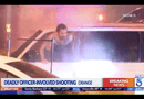 Video-Hot - Cảnh sát Mỹ phun vòi rồng ép nghi phạm trong xe ra ngoài