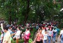 Tin trong nước - Hà Nội: Biển người chen chân ở vườn thú Thủ Lệ, ngồi la liệt trên bãi cỏ dịp nghỉ lễ 30/4