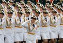 Tin thế giới - 24h qua ảnh: Nữ binh sĩ Nga rạng ngời trong lễ duyệt binh Ngày Chiến thắng