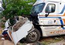 Tin trong nước - Bình Định: Xe container tông xe dịch vụ đám cưới, 4 người bị thương