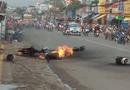 Tin trong nước - 7 bình gas phát nổ trên xe máy, nhiều người hoảng loạn bỏ chạy