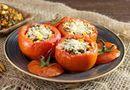 Ăn - Chơi - Hấp dẫn món cà chua nướng nhồi ớt chuông và diêm mạch