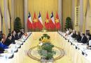 Tin tức - Chủ tịch nước Trần Đại Quang hội đàm với Tổng thống Chile Michelle Bachelet