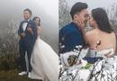 Tin tức - Cô dâu để lưng trần chụp ảnh cưới dưới trời băng tuyết Sa Pa khiến dân tình 'khiếp vía'