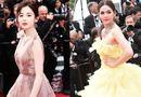 """Tin tức - Mỹ nữ Tân Cương đọ sắc """"thiên thần"""" Thái Lan trên thảm đỏ Cannes 2018"""