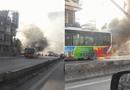 Tin trong nước - Hà Nội: Xe buýt chở nhiều khách bất ngờ bốc cháy giữa phố
