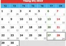 Tin tức - Thủ tướng phê duyệt nghỉ 5 ngày dịp lễ 30/4- 1/5/2019