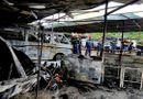 Tin tức - Cháy bãi đậu xe gần sân bay Tân Sơn Nhất, 3 ô tô bị thiêu rụi