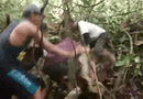"""Tin tức - Video: Rùng mình cảnh trăn """"khủng"""" siết chặt người"""
