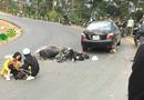 Tin tức - Cặp đôi phượt thủ đổ đèo bằng xe máy ở Tam Đảo suýt rơi xuống vực