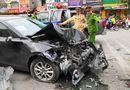 Pháp luật - Hà Nội: Xe Mazda gây tai nạn liên hoàn, 3 người bị thương