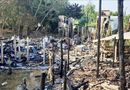 """Tin trong nước - """"Bà hỏa"""" ghé thăm trong đêm, 9 căn nhà bốc cháy ngùn ngụt"""