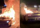 """Tin tức -  Siêu xe Lamborghini mạ vàng bốc cháy sau khi đi bảo dưỡng khiến chủ nhân """"đứt ruột"""""""