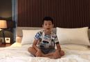 Chuyện làng sao - Cường Đôla bất ngờ khoe clip con trai nói tiếng Anh trôi chảy