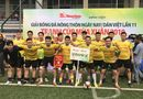 Thể thao - Báo Đời sống & Pháp luật thắng Dân trí ở trận khai mạc giải bóng đá báo Nông Thôn