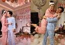 Tin tức giải trí - Trường Giang mặc đồ ngủ, ôm hôn Nhã Phương ở tiệc sinh nhật