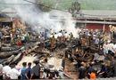 Tin trong nước - Lai Châu: Hỏa hoạn thiêu rụi 6 căn nhà, kho hàng tại chợ Nậm Cuổi
