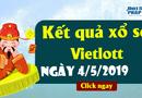 Kinh doanh - Trực tiếp Kết quả xổ số Vietlott thứ 7 ngày 4/5/2019