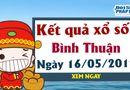 Kết quả xổ số Bình Thuận ngày 16/5/2019