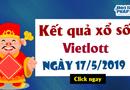 Kết quả xổ số Vietlott ngày 17/5/2019