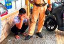 Tin trong nước - Đà Nẵng: Thượng úy CSGT bị đôi nam nữ phóng xe máy bỏ chạy tông chấn thương