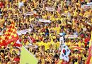 """Bóng đá - Vòng 19 V-League 2019: """"Chảo lửa"""" Thiên Trường xác lập kỷ lục mới trong trận HAGL- Dược Nam Hà"""