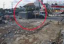 Video-Hot - Video: Thùng container rơi khỏi xe khi vào cua, nhiều người may mắn thoát chết
