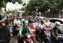 Tin trong nước - TP.HCM: Nhiều tuyến đường ùn tắc do người dân bắt đầu về quê nghỉ lễ