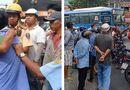 Tin trong nước - TP.HCM: Cãi vã do va chạm giao thông, tài xế xe bus cầm dao tấn công thanh niên chạy Grab