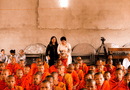 Xã hội - Hội đồng điều hành học viện phật giáo Nam Tông KHMER chào đón đoàn công ty Bình Tây tham dự lễ dâng Y KATHINA
