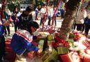 """Giáo dục pháp luật - Cận cảnh 3 cây thông Noel """"khổng lồ"""" được học sinh trang trí ngay trong sân trường cấp 2 ở Hà Nội"""