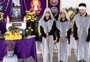 Tin trong nước - Vụ 2 vợ chồng tử vong do lật thuyền đánh cá: Xót xa hình ảnh 3 đứa trẻ đầu chít khăn tang bên bàn thờ