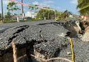 Kinh doanh - Cà Mau: Đường 700 tỷ thông xe chưa được 1 năm đã sụt lún