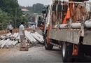 Tin trong nước - Bình Phước: Lật xe container khiến gần 100 trụ điện văng ra giữa đường