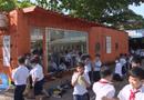 Việc tốt quanh ta - Biến container thành nơi đọc sách, học sinh có không gian tri thức học tập ấn tượng